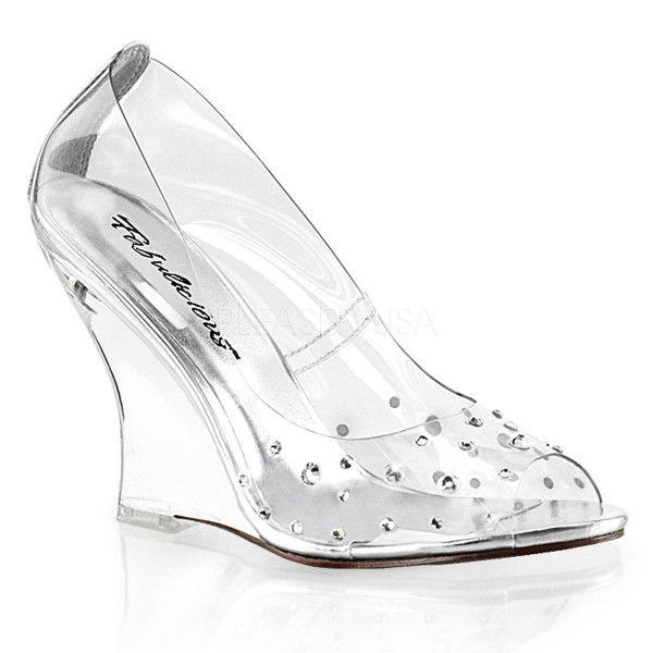 LOVELY 420RS ° Damen Pumps ° TransparentMatt ° Fabulicious