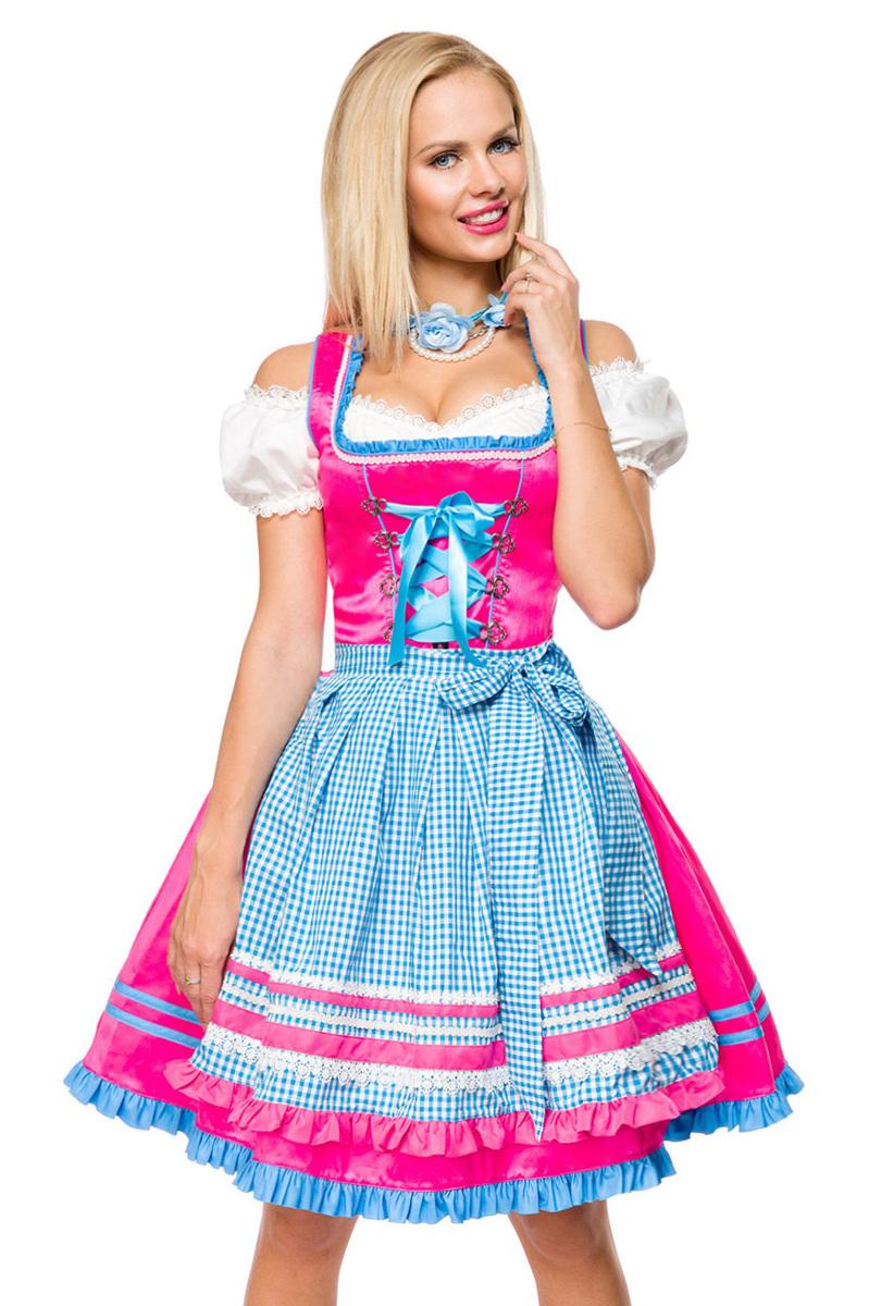 Dirndl mit Karoschürze ° Blau-Pink ° Dirndline   Dirndl   Fashion   RedSixty 3a0c797fe3
