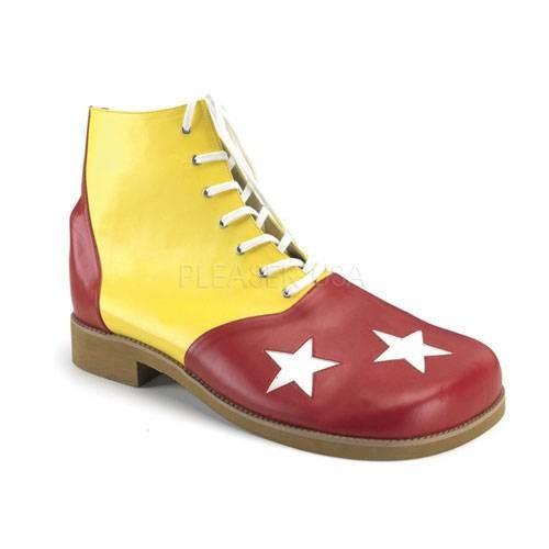 CLOWN 02 ° Unisex Clown Schuhe ° Rot Blau Matt ° Funtasma