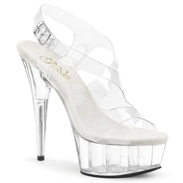 DELIGHT 630 ° Damen Sandalette ° TransparentMatt ° Pleaser