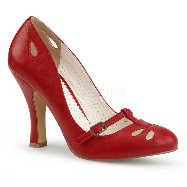 SMITTEN 20 ° Damen Pumps ° RotMatt ° Pin Up Couture