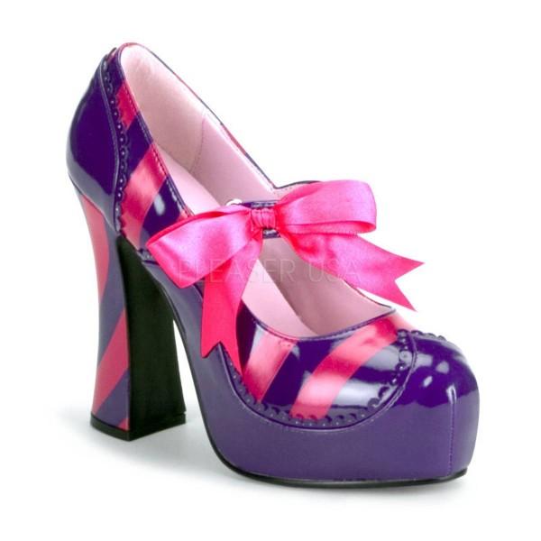 KITTY 32 ° Damen Pumps ° Violett Pink Glänzend ° Funtasma
