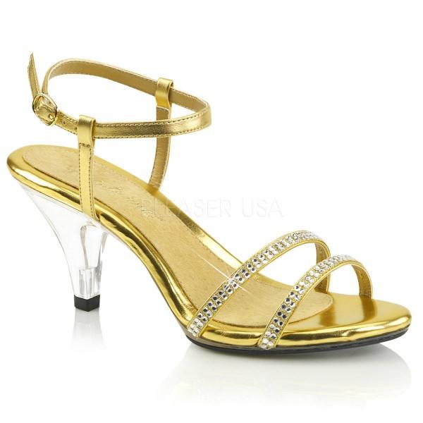 BELLE 316 ° Damen Sandalette ° GoldMatt ° Fabulicious