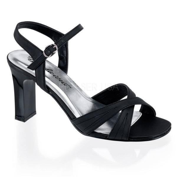 ROMANCE 313 ° Damen Sandalette ° Schwarz Matt ° Fabulicious