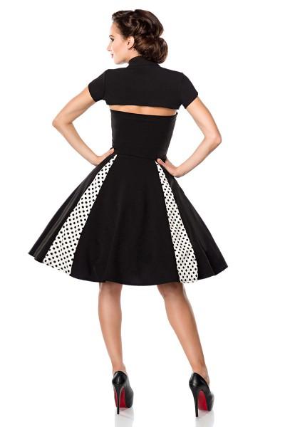 Vintage-Kleid mit Bolero ° Schwarz-Weiß ° Belsira