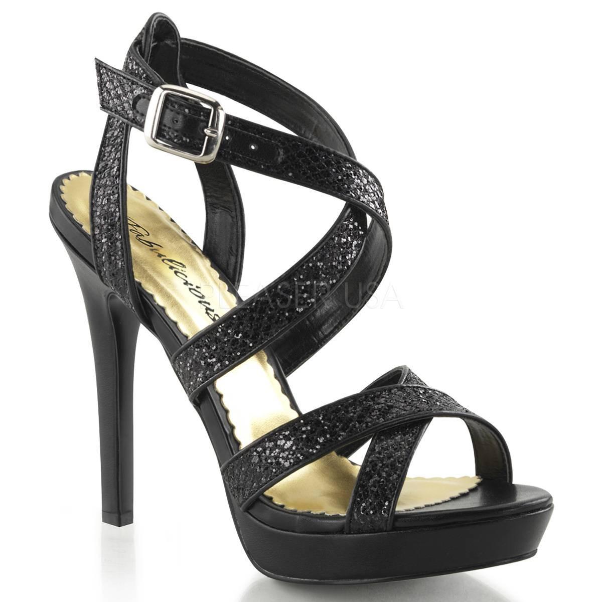 Sandalen für Frauen - LUMINA 21 ° Damen Sandalette ° Schwarz Glitter ° Fabulicious  - Onlineshop RedSixty