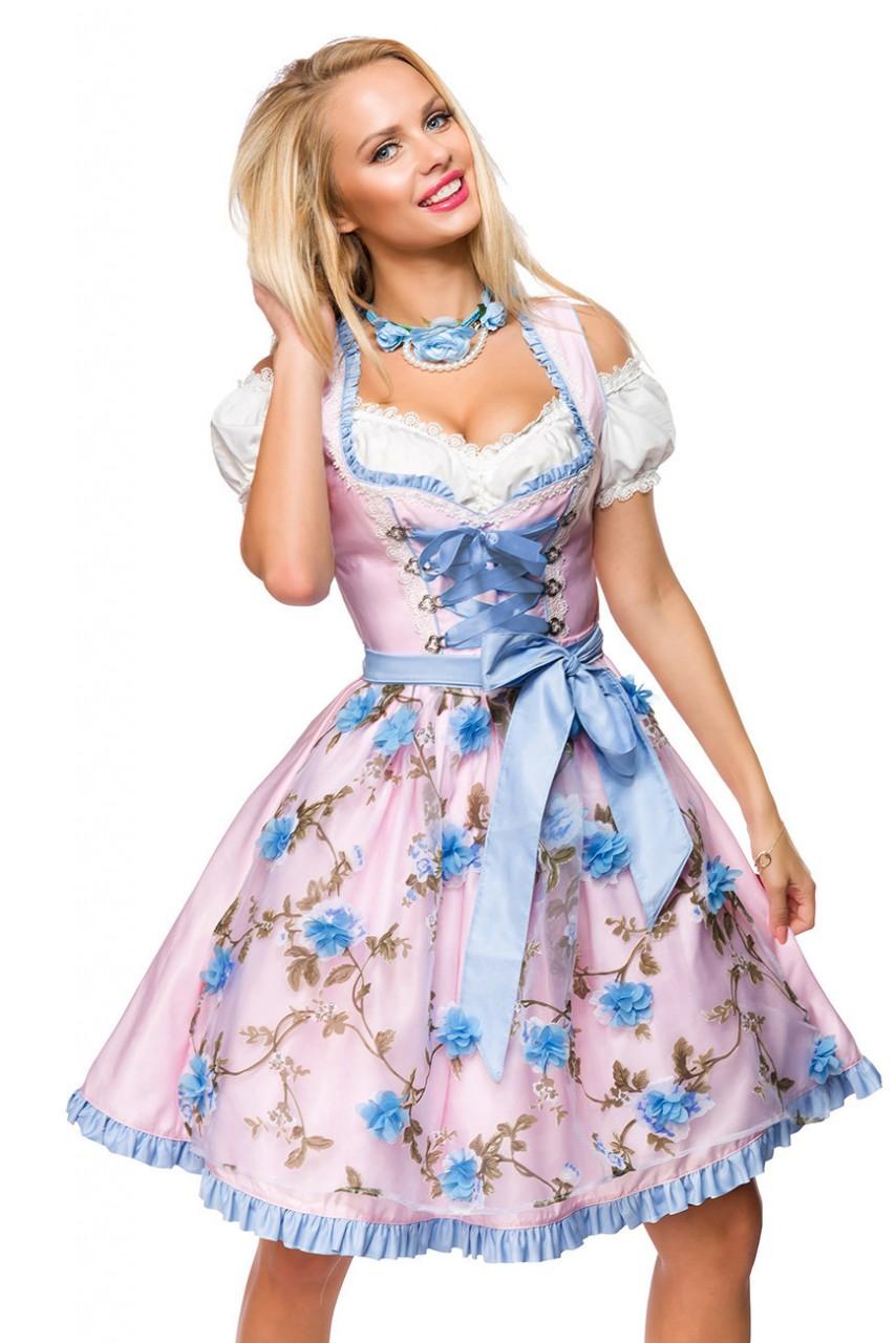 Kleider - Dirndl mit Blumenschürze ° Rosa Blau ° Dirndline  - Onlineshop RedSixty