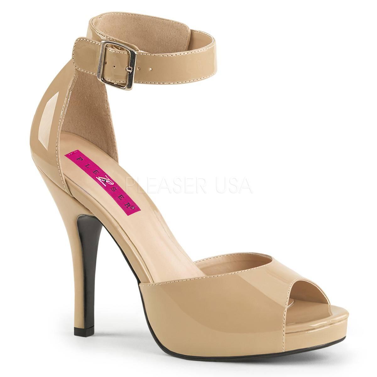 Sandalen - EVE 02 ° Damen Sandalette ° BeigeGlänzend ° Pleaser Pink Label  - Onlineshop RedSixty