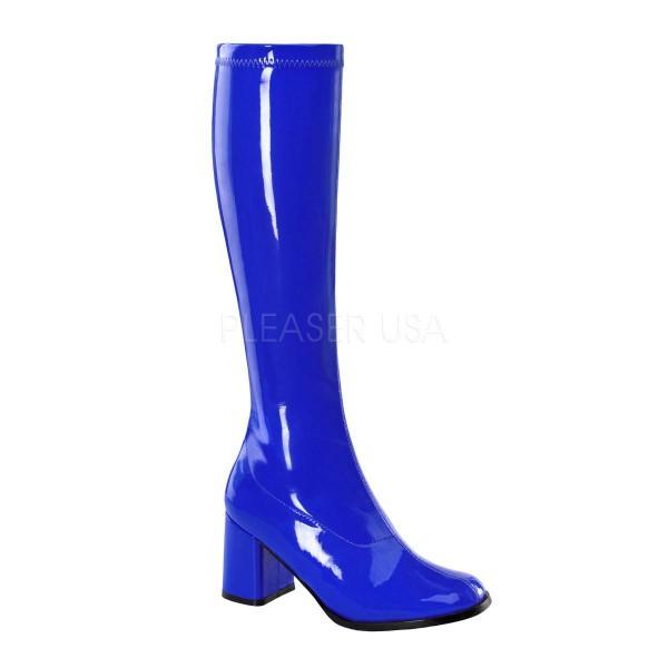 GOGO 300 ° Damen Stiefel ° Blau Glänzend ° Funtasma