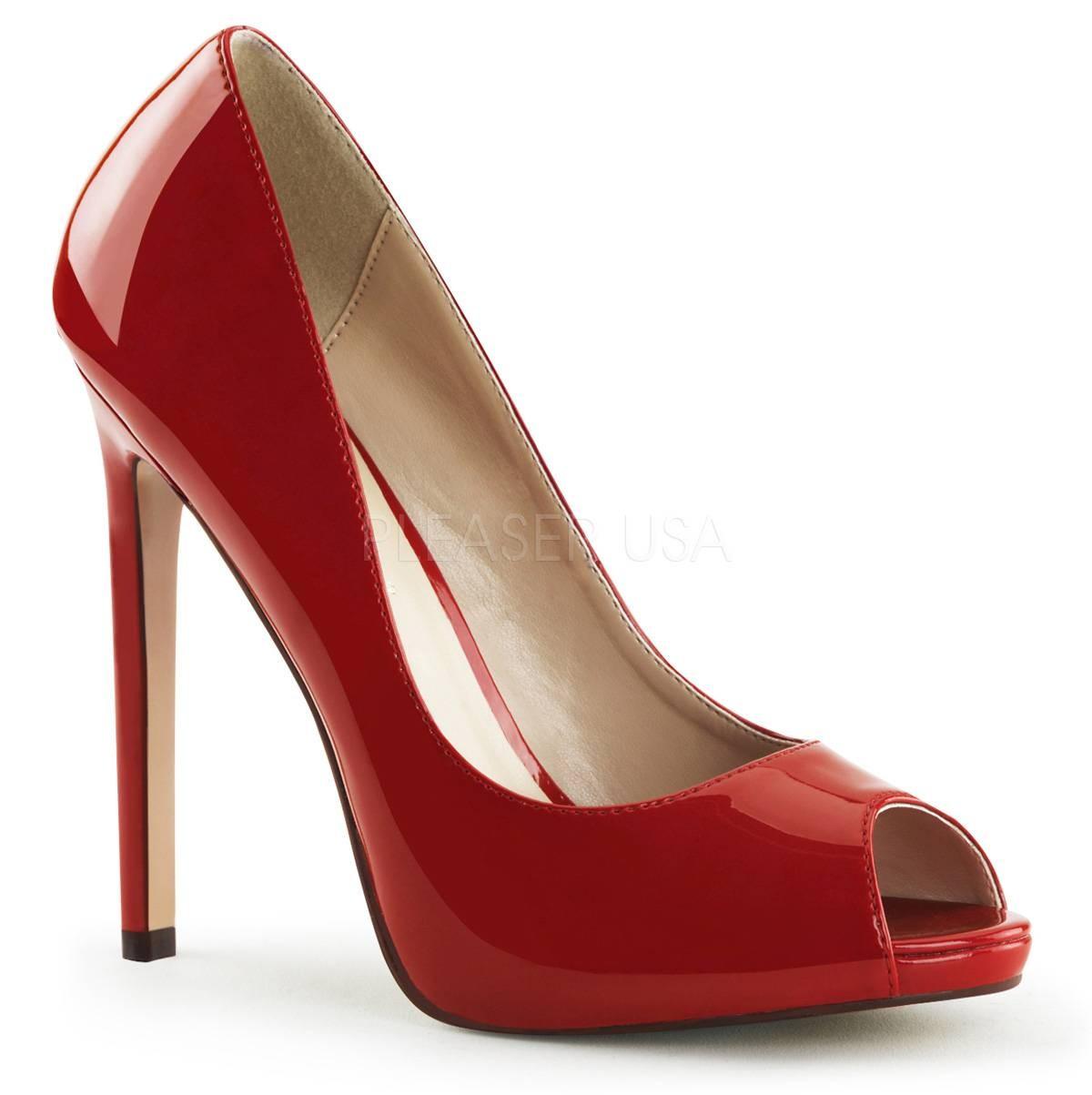 Highheels - SEXY 42 ° Damen Peep Toe ° Rot Glänzend ° Pleaser  - Onlineshop RedSixty