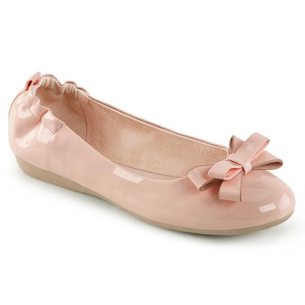 OLIVE-03 ° Damen Ballerina ° Babypink ° Lack ° Pin Up Couture