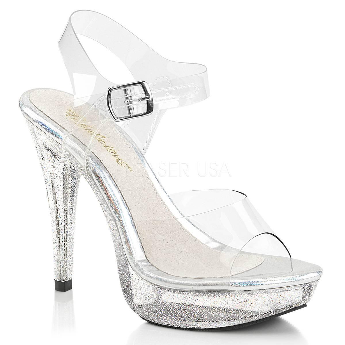 Highheels für Frauen - COCKTAIL 508MG ° Damen Sandalette ° TransparentMatt ° Fabulicious  - Onlineshop RedSixty