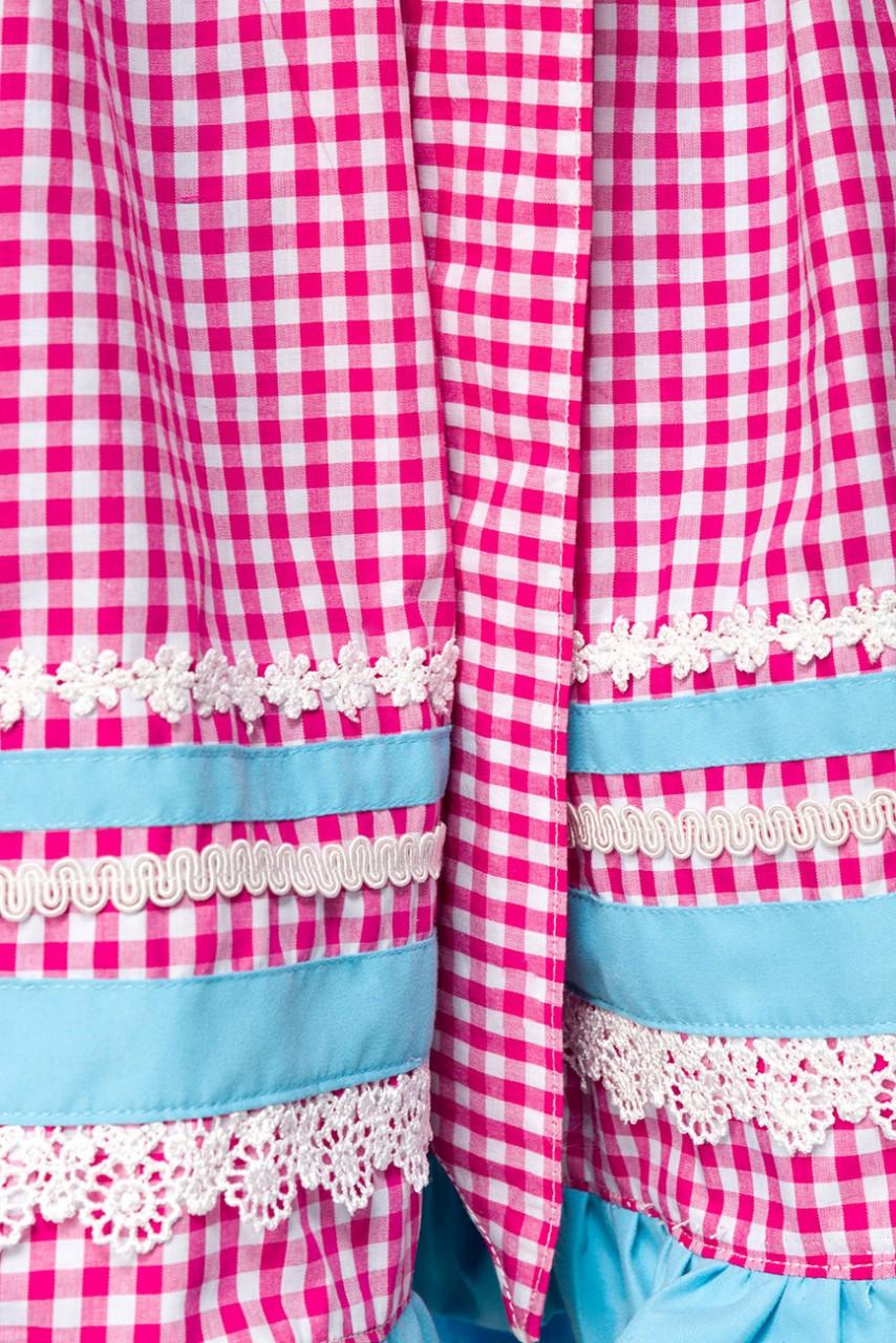 Kleider - Dirndl mit Karoschürze ° Blau Pink ° Dirndline  - Onlineshop RedSixty