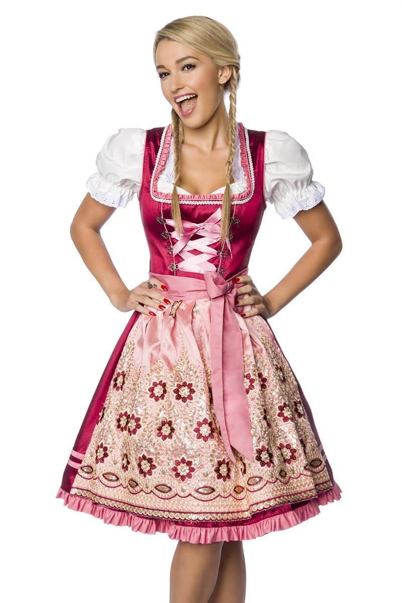 Kleider für Frauen - Premium Dirndl ° Rosa Rot ° Dirndline - Onlineshop  RedSixty 60fdd6e714