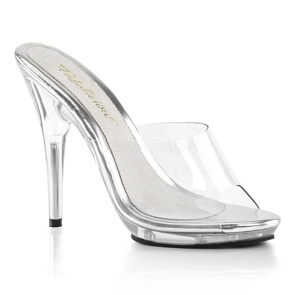 POISE 501 ° Damen Sandalette ° TransparentMatt ° Fabulicious