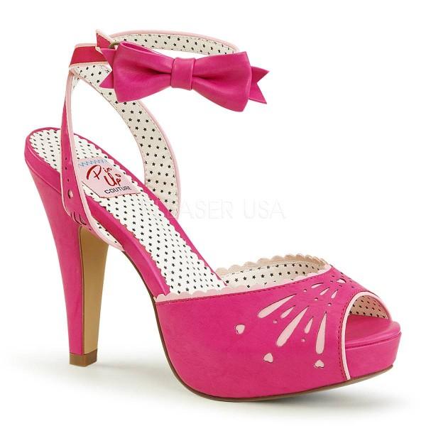 BETTIE 01 ° Damen Sandalette ° PinkMatt ° Pin Up Couture