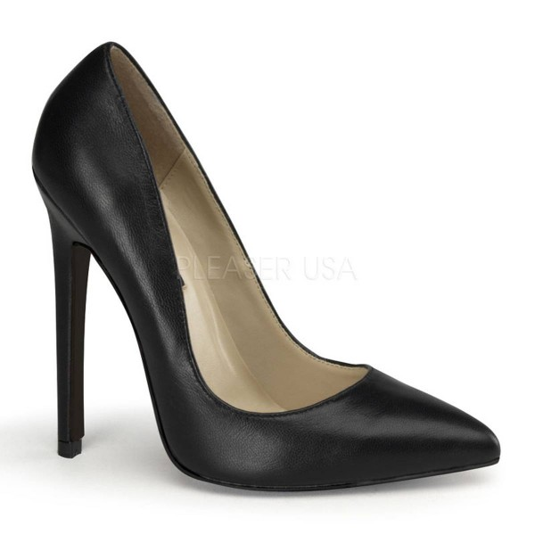SEXY 20 ° Damen Pumps ° Schwarz Leder ° Pleaser