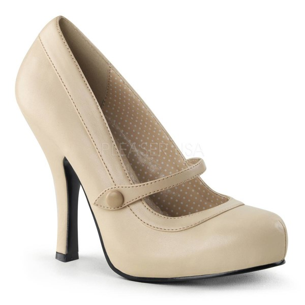 CUTIEPIE 02 ° Damen Pumps ° Beige Matt ° Pin Up Couture