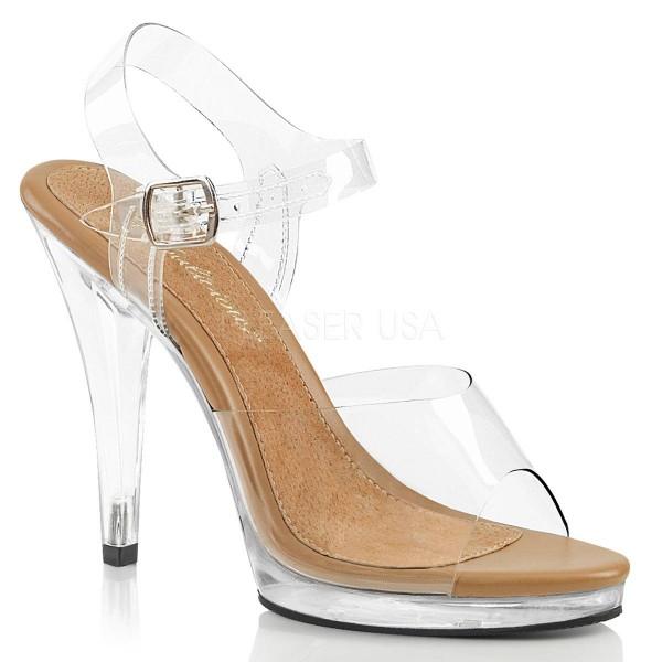 FLAIR 408 ° Damen Sandalette ° TransparentMatt ° Fabulicious