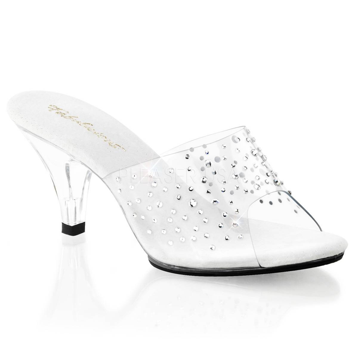 Sandalen - BELLE 301RS ° Damen Sandalette ° Transparent Matt ° Fabulicious  - Onlineshop RedSixty