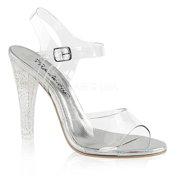 CLEARLY 408MG ° Damen Sandalette ° TransparentMatt ° Fabulicious