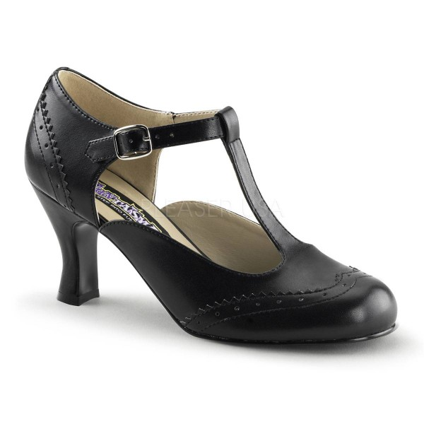 FLAPPER 26 ° Damen Pumps ° Schwarz Matt ° Funtasma