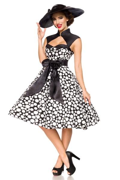 Vintage-Kleid ° Schwarz-Weiß-Dots ° Belsira