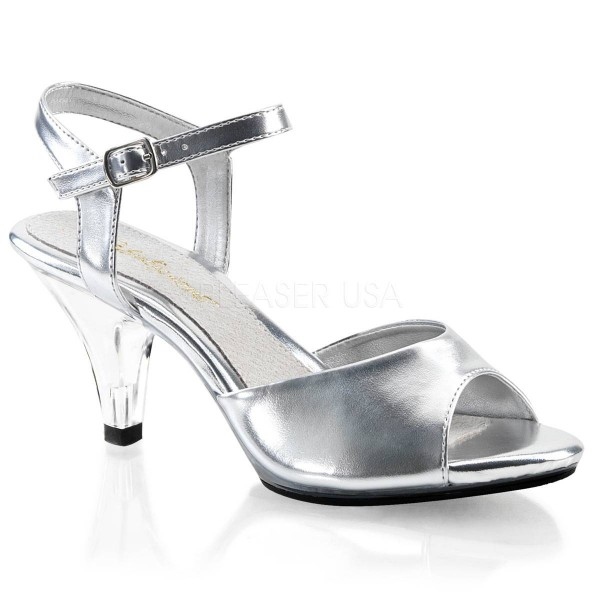 BELLE 309 ° Damen Sandalette ° Silber Matt ° Fabulicious