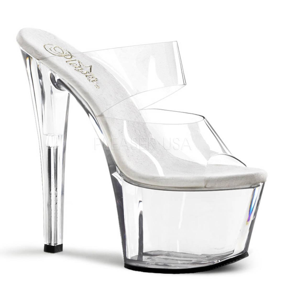 Highheels für Frauen - SKY 302 ° Damen Sandalette ° Transparent Matt ° Pleaser  - Onlineshop RedSixty