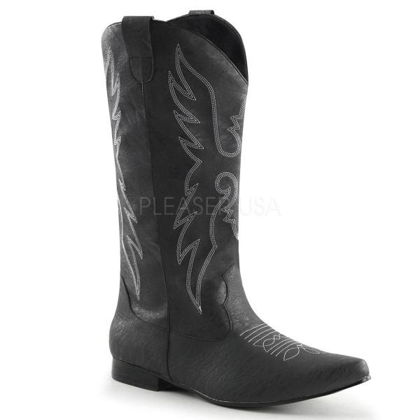 CHELSEA 102 ° Herren Cowboy Stiefel ° Schwarz Matt ° Funtasma