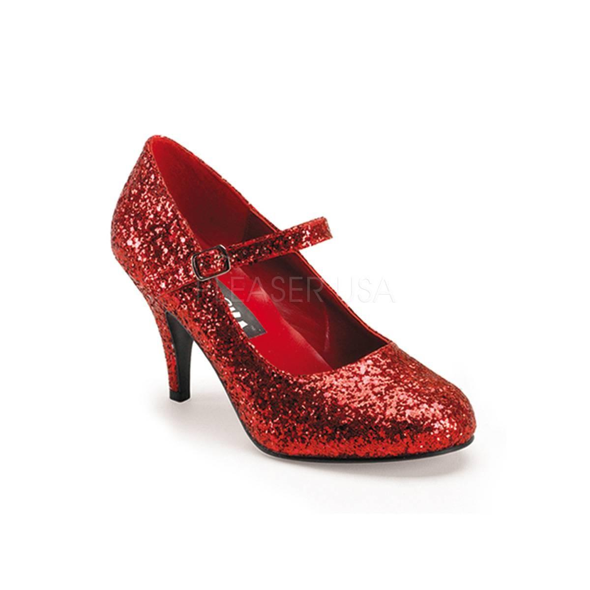 Pumps - GLINDA 50G ° Damen Pumps ° Rot Glitter ° Funtasma  - Onlineshop RedSixty