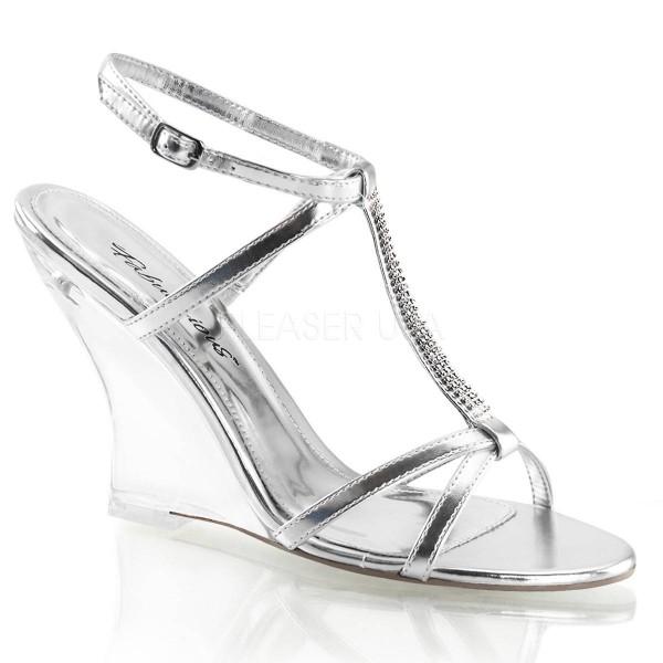 LOVELY 428 ° Damen Sandalette ° Silber Matt ° Fabulicious