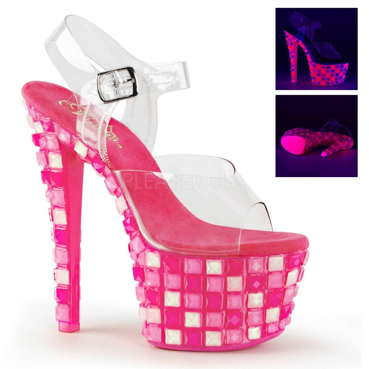 Highheels für Frauen - SKY 308UVTL ° Damen Sandalette ° Transparent Matt ° Pleaser  - Onlineshop RedSixty