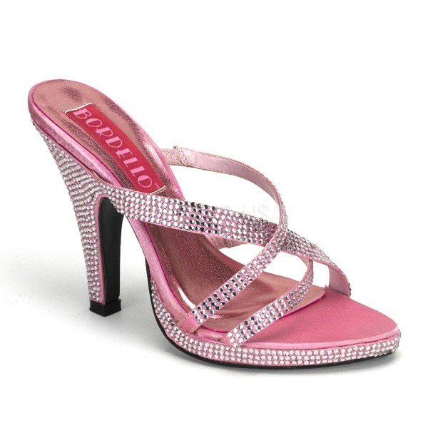 SIREN 02R ° Damen Sandalette ° Pink Strass ° Bordello