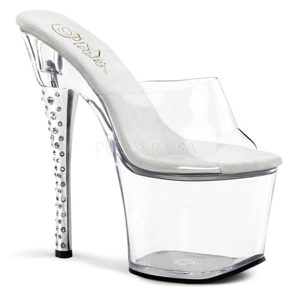 DIAMOND 701 ° Damen Sandalette ° Transparent Matt ° Pleaser