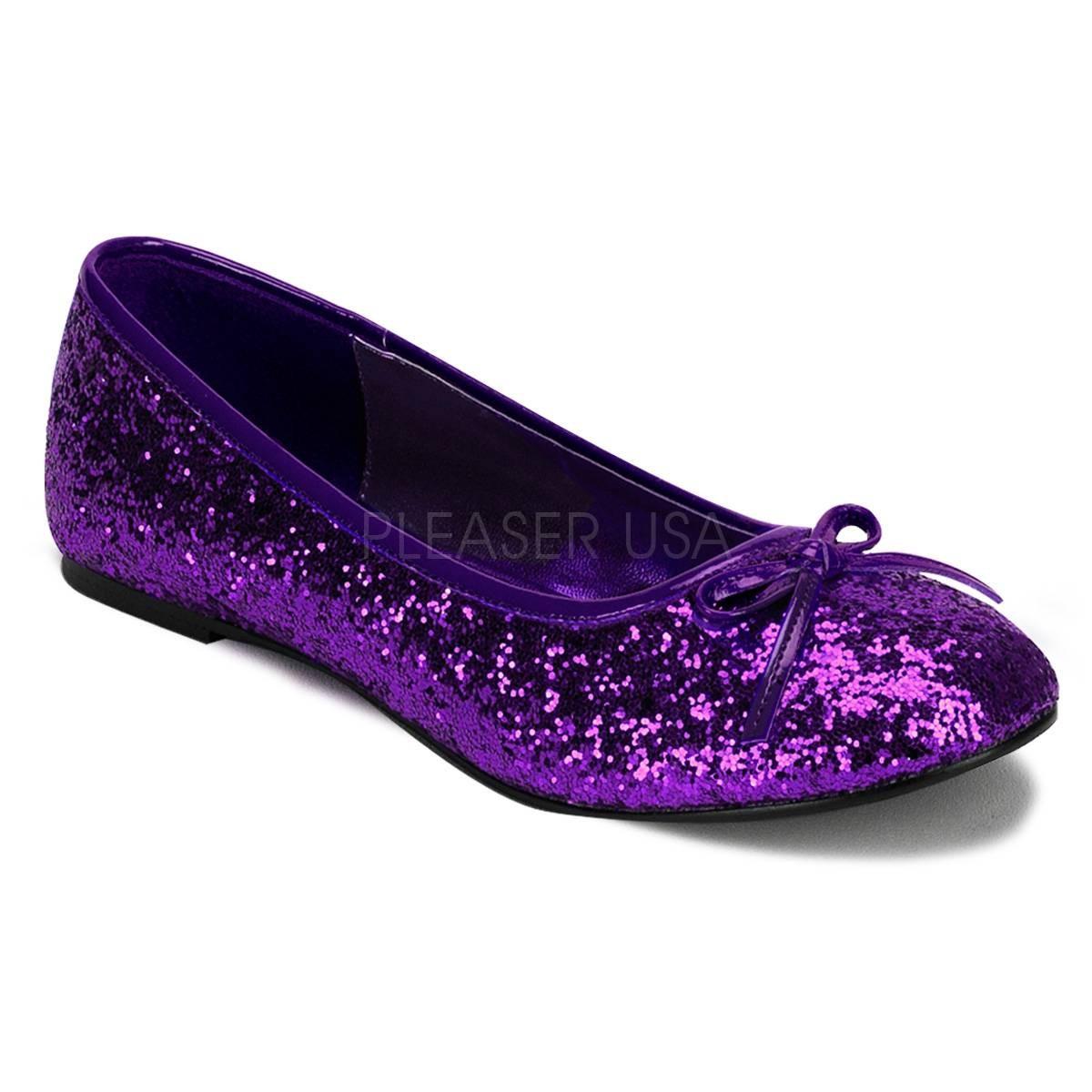 Ballerinas - STAR 16G ° Damen Ballerina ° Violett Glitter ° Funtasma  - Onlineshop RedSixty