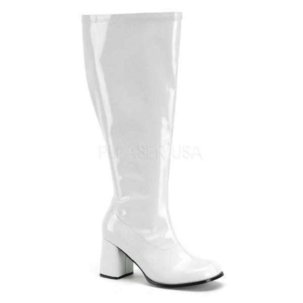 GOGO 300X ° Damen Stiefel ° Weiß Glänzend ° Funtasma