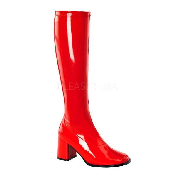 GOGO 300 ° Damen Stiefel ° Rot Glänzend ° Funtasma