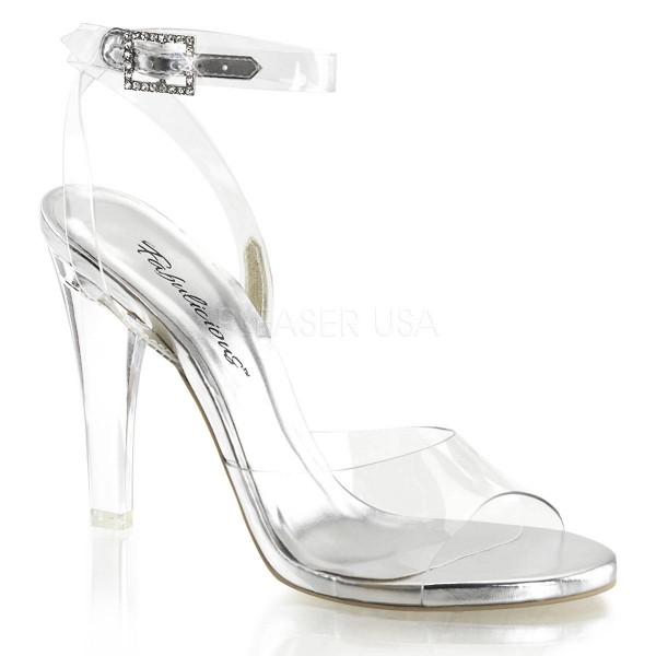 CLEARLY 406 ° Damen Sandalette ° Transparent Matt ° Fabulicious