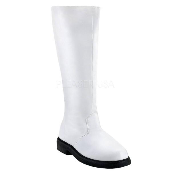 CAPTAIN 100 ° Herren Stiefel ° Weiß Matt ° Funtasma