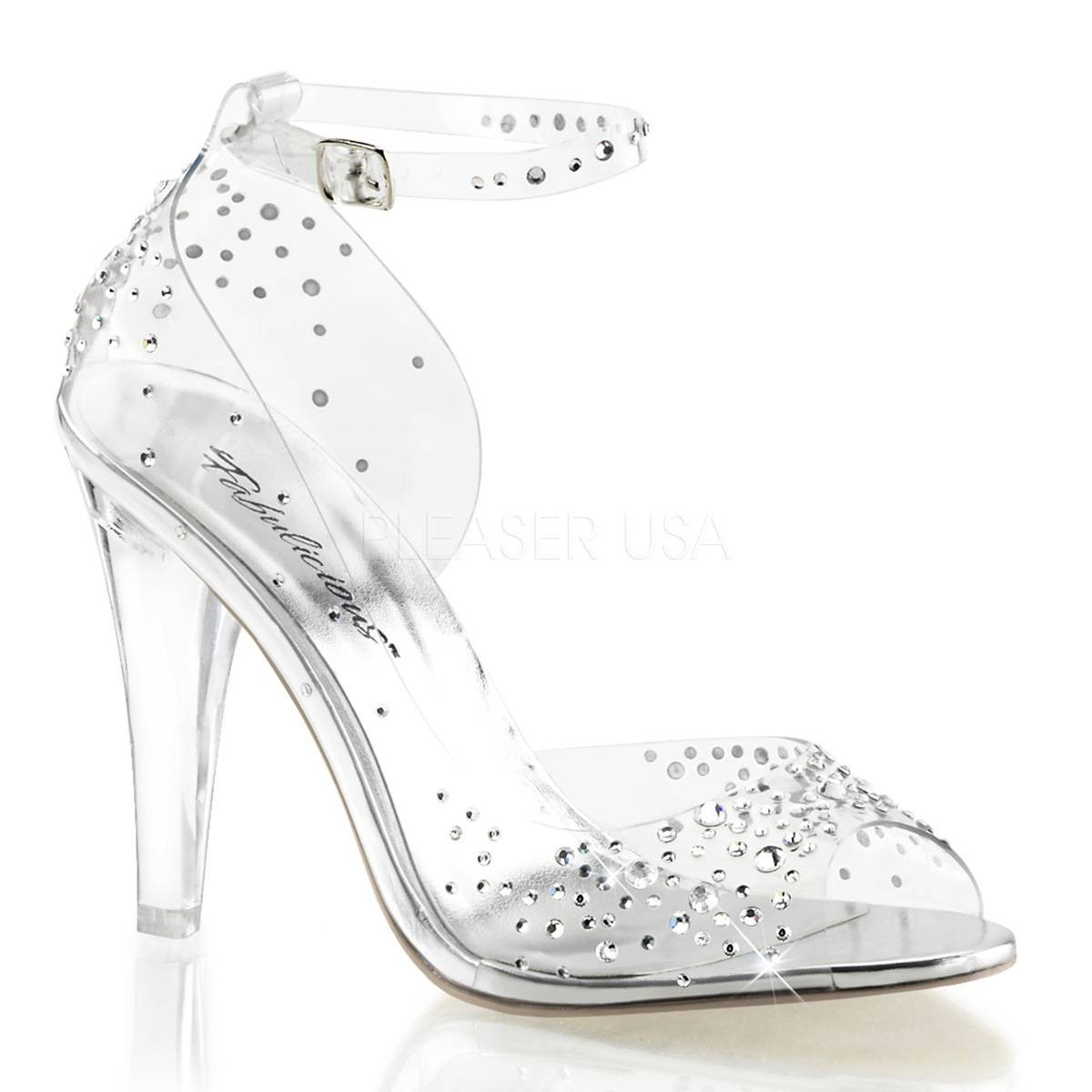 Sandalen - CLEARLY 430RS ° Damen Sandalette ° Transparent Matt ° Fabulicious  - Onlineshop RedSixty
