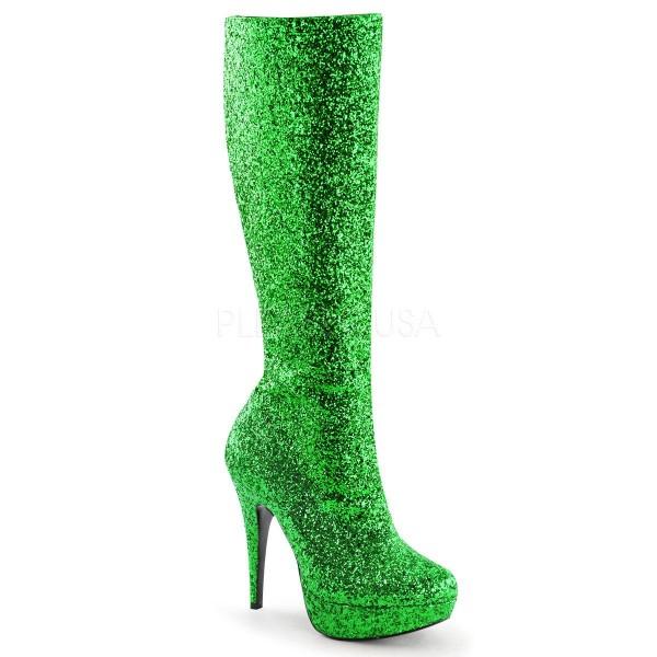 LOLITA 300G ° Damen Stiefel ° Grün Glitter ° Funtasma