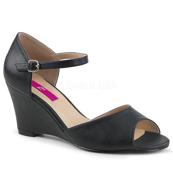 KIMBERLY 05 ° Damen Sandalette ° SchwarzMatt ° Pleaser Pink Label