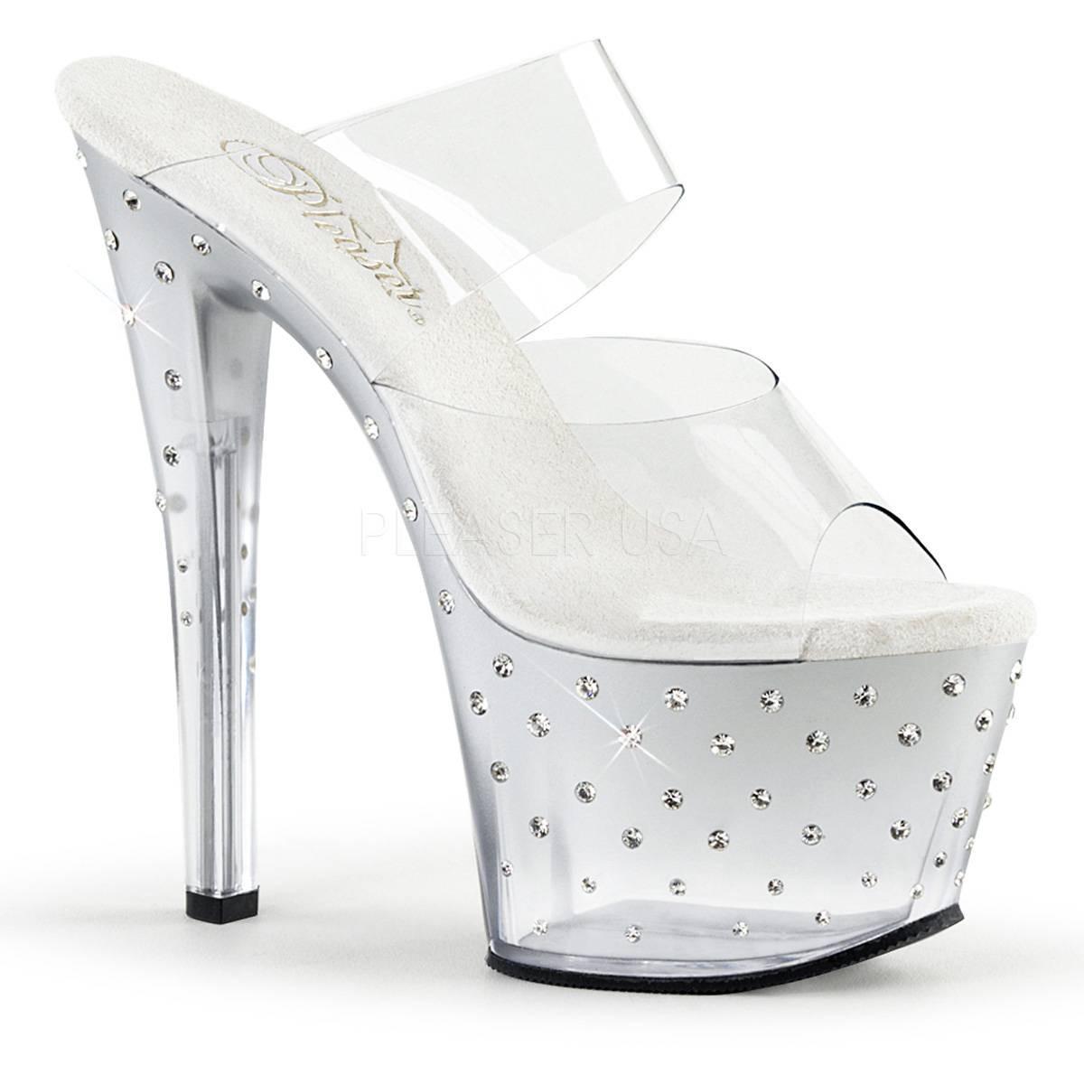 Highheels für Frauen - STARDUST 702T ° Damen Sandalette ° TransparentMatt ° Pleaser  - Onlineshop RedSixty
