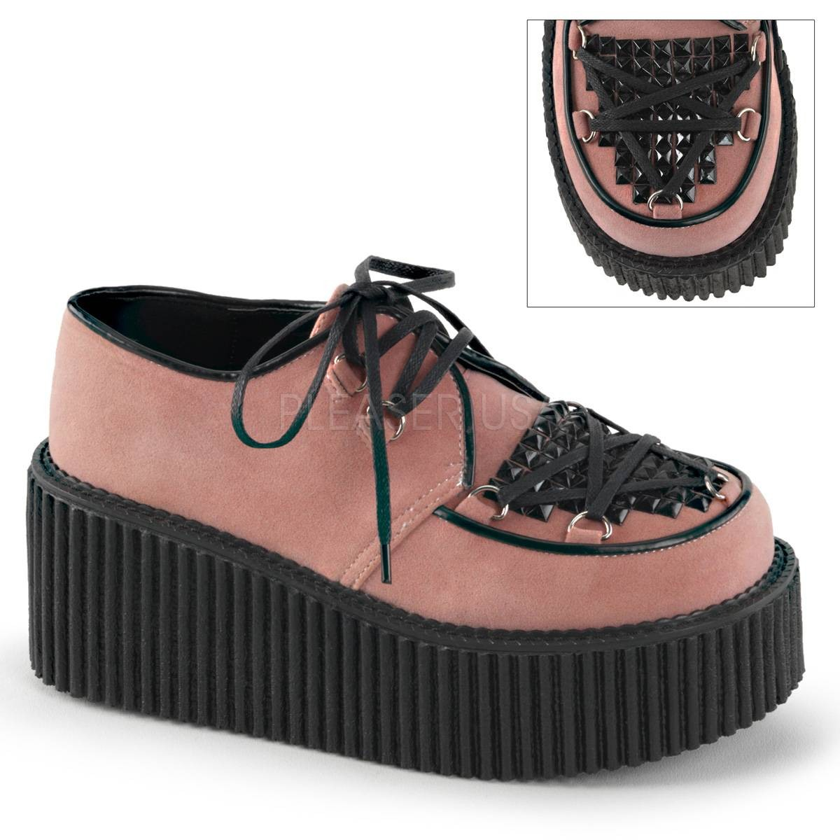 Halbschuhe - CREEPER 216 ° Damen Creeper ° Pink Schwarz Matt ° Demonia  - Onlineshop RedSixty