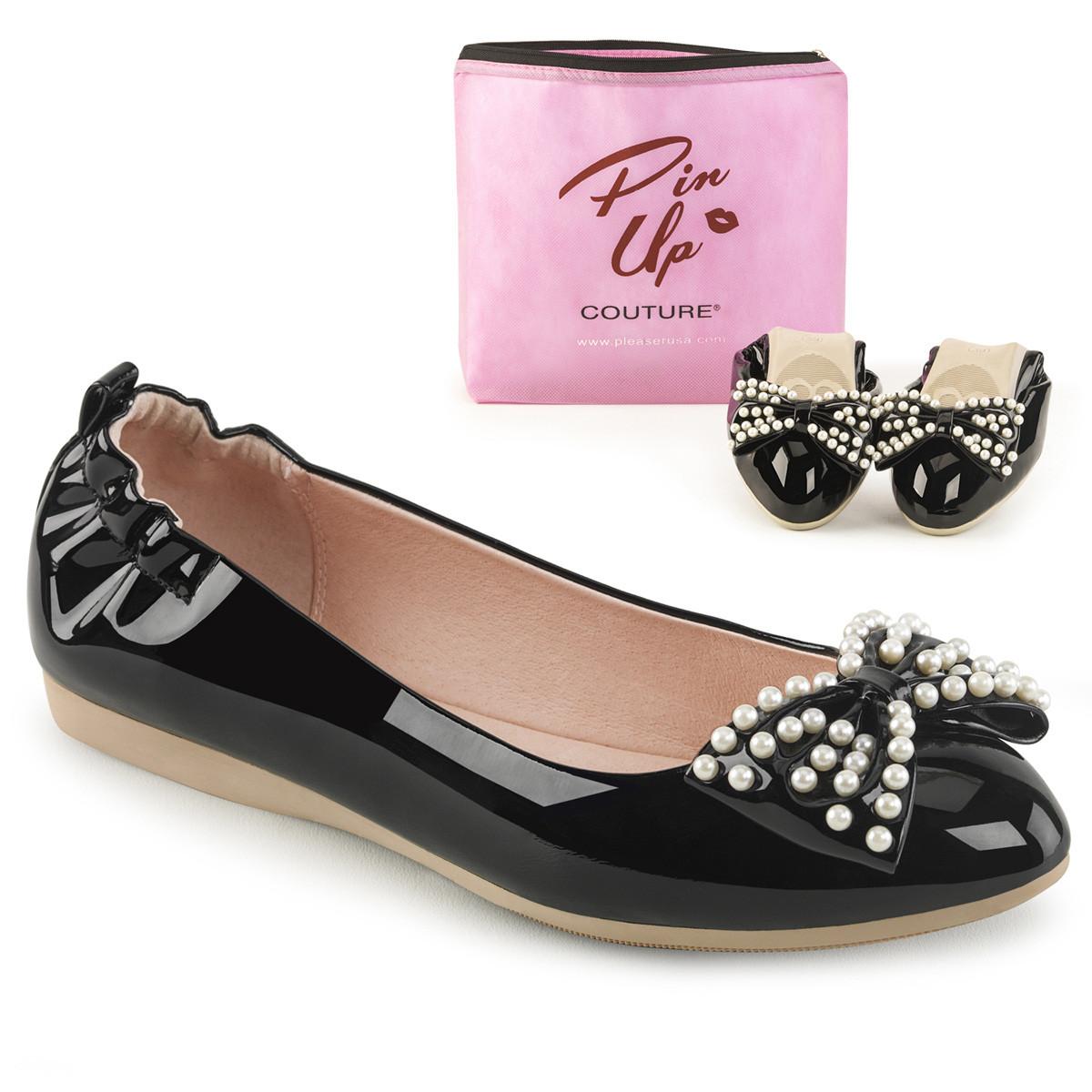 Ballerinas - IVY 09 ° Damen Ballerina ° Schwarz ° Lack ° Pin Up Couture  - Onlineshop RedSixty