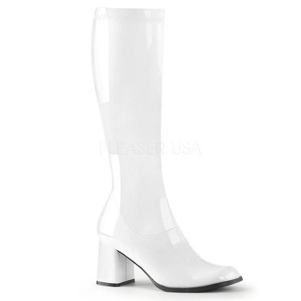 e476303d7b9c7 GOGO 300 ° Damen Stiefel ° Weiß Glänzend ° Funtasma
