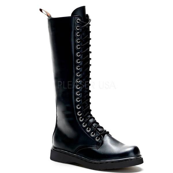 DEFIANT 400 ° Unisex Combat Boots ° Schwarz Matt ° Demonia