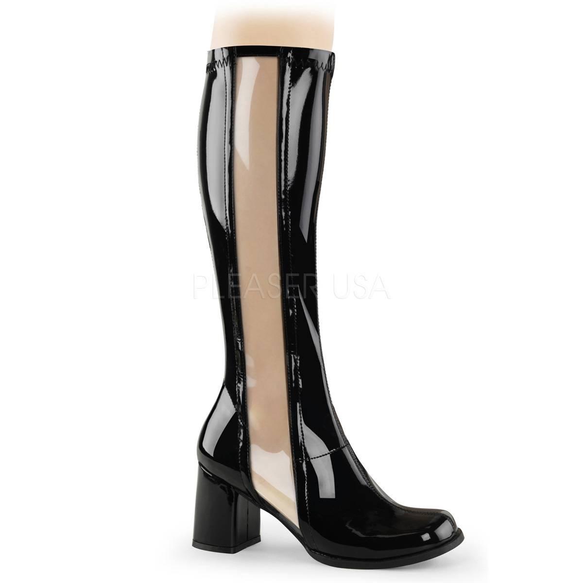 Stiefel - GOGO 303 ° Damen Stiefel ° Schwarz Transparent Glänzend ° Funtasma  - Onlineshop RedSixty