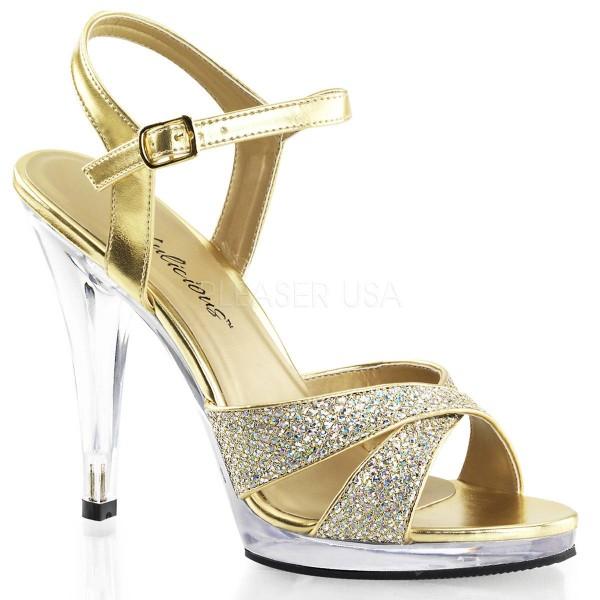 FLAIR 419(G) ° Damen Sandalette ° Gold Glitter ° Fabulicious